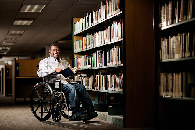 wayne state university commercial promotional photographer for disability department in metro detroit, michigan