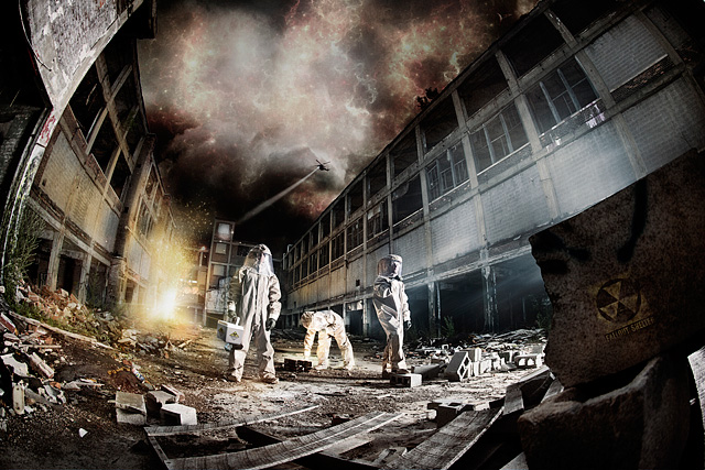 Packard Plant in Metro Detroit, downtown - dystopian, conceptual, editorial photographer and photo manipulation in michigan