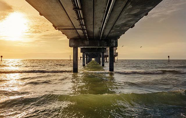 Michigan based landscape and travel photographer - image of a pier in Clearwater, Florida