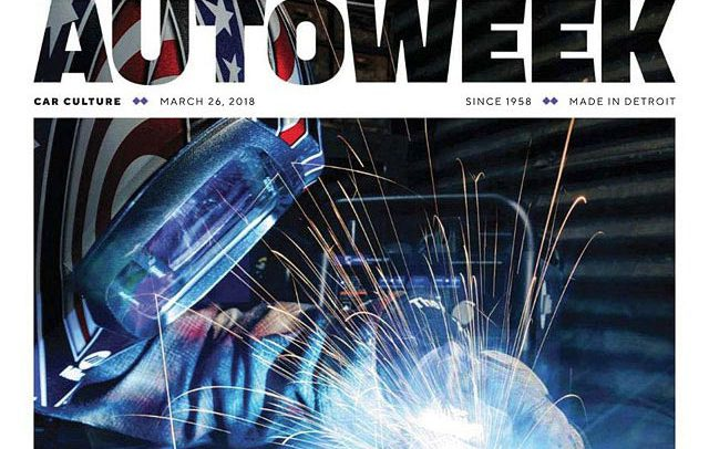 Autoweek cover photograph of Josh Welton - Miller sponsored welder
